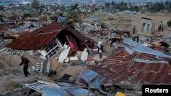 Động đất ở thành phố Palu, đảo Sulawesi, Indonesia, ngày 1/10/2018.