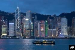 Pemandangan di Victoria Harbour di Hong Kong. (Foto: AP)