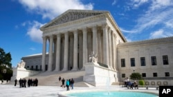 FILE - The U.S. Supreme Court building, Oct. 5, 2015.