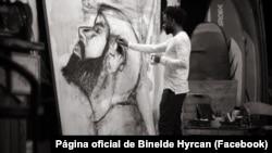 Binelde Hyrcan, artista plástico angolano