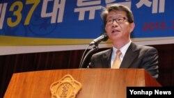 11일 서울 정부청사 별관에서 열린 취임식에서 류길재 통일부 장관. (자료사진)