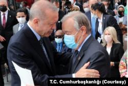 Cumhurbaşkanı Erdoğan ve BM Genel Sekreteri Guterres