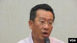 台湾执政党民进党立委顾立雄(美国之音张永泰拍摄)