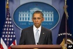 Predsednik SAD prilikom obraćanja iz Bele Kuće