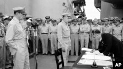 WWII JAPAN SURRENDER CEREMONY