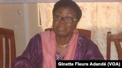 Vicentia Bocco, ex présidente de l'institut de la femme, à Cotonou, le 31 août 2021. (VOA/Ginette Fleure Adandé)