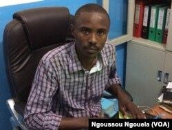 """Trésor Nzila Kendet, coalition """"Publiez Ce Que Vous Payez"""", à Brazzaville, au Congo, le 16 mai 2017. (VOA/Ngoussou Ngouela)"""