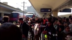 Refugees Arrive at Vienna Train Station