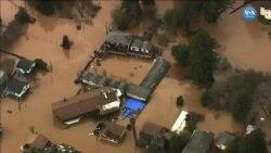 ABD'nin Batı Eyaletlerinde Şiddetli Fırtınalar Sellere Yol Açıyor