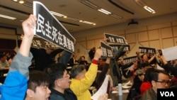 今年4月有激進親建制派團體衝擊民主派舉辦的普選論壇,導致論壇被逼腰斬