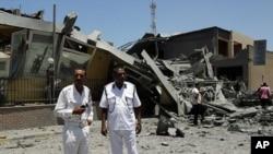 被北约轰炸炸毁的建筑物