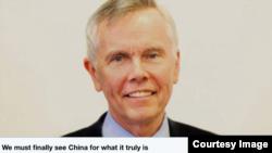 前加拿大駐華大使馬大維2018年12月27日在加拿大環球郵報發表評論文章(加拿大環球郵報推文截圖)