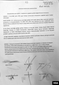 Meclis Anayasa Komisyonu'nda reddedilen CHP önergesi (Y. Yazıcıoğlu)