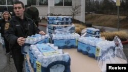 Water is distributed to residents in Charleston, West Virginia, Jan. 10, 2014.