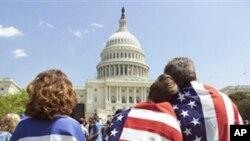 Des partisans d'Israël devant le Congrès (Archives)