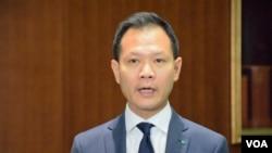 香港公民黨法律界立法會議員郭榮鏗。(美國之音湯惠芸拍攝)