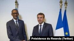 Paul Kagame et Emmanuel Macron et se sont entretenus à New York, le 18 septembre 2017.