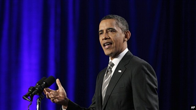 President Barack Obama speaks during a campaign event in Washington, Decemver 13, 2011.
