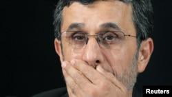 El presidente iraní Mahmoud Ahmadinejad participa de una conferencia en el marco de la Asamblea General de la ONU.