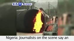 VOA60 Africa - 100 Killed in Gas Tanker Blast in Nigeria