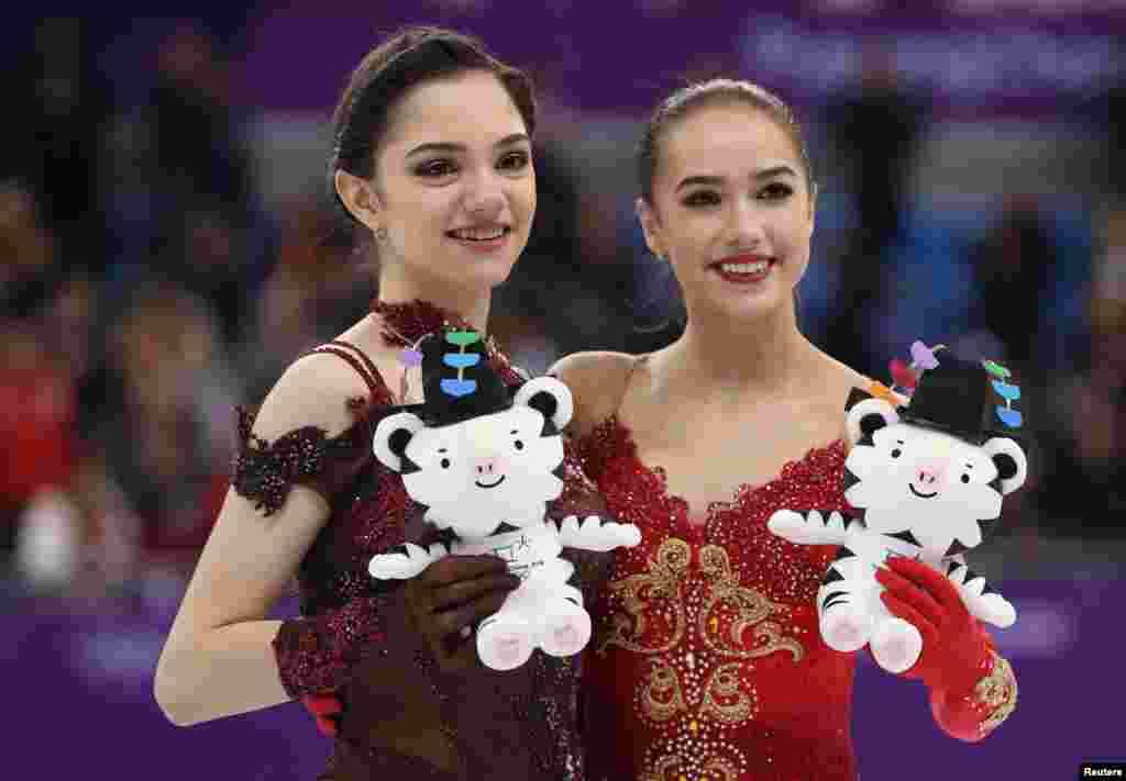 2018年2月23日,来自俄罗斯的奥运选手阿琳娜·扎吉托娃(Alina Zagitova)在平昌冬奥会花样滑冰女子单人自由滑决赛中夺冠。俄罗斯选手叶夫根尼娅·梅德韦杰娃(Evgenia Medvedeva)争得亚军。