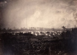 Camp of the 6th Vermont Regiment at Camp Griffin, Virginia, taken in 1861 by George Houghton.