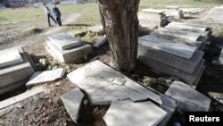 FILE - An abandoned Jewish cemetery is pictured in Edirne, western Turkey, Feb. 26, 2015.