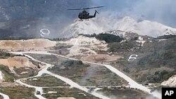 지난해 9월 미-한 연합 합동 화력훈련 (자료사진).