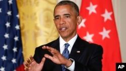 Presiden AS Barack Obama mengatakan Trump tidak layak untuk menggantikannya sebagai pemimpin Amerika, dalam konferensi pers di Gedung Putih Selasa (2/8).