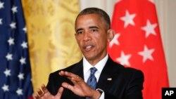 2016年8月2日,奥巴马总统在白宫联合记者招待会上回答记者提问。