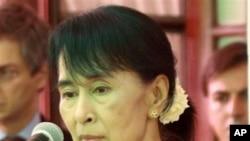 缅甸反对派领导人昂山素季(资料照片)