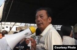 """魏永汉在2011年。他因""""聚众扰乱社会秩序罪""""被判处十年半徒刑。 (庄烈宏提供)"""