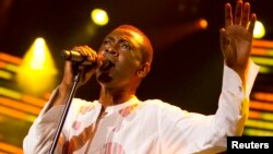 FILE - Youssou N'dour of Senegal performed at the 44th Montreux Jazz Festival in Montreux, France, on July 9, 2010.