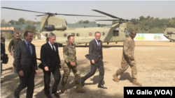 Defense Secretary Jim Mattis arrives at Resolute Support headquarters in Kabul, Afghanistan, Sept. 7, 2018.