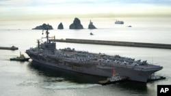 """美國""""喬治•華盛頓""""號航母2010年7月25日照片"""