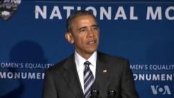 奥巴马总统推动妇女工资平等权