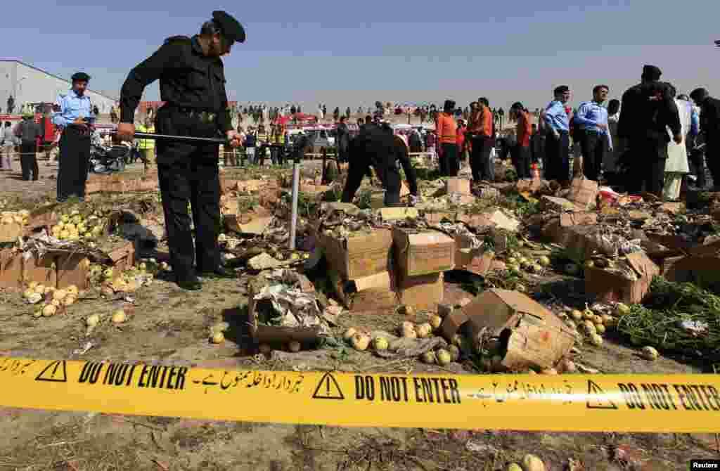 اسلام آباد کی سبزی منڈی میں ہونے والے ایک بم دھماکے میں بڑی تعداد میں لوگ ہلاک و زخمی ہوئے۔