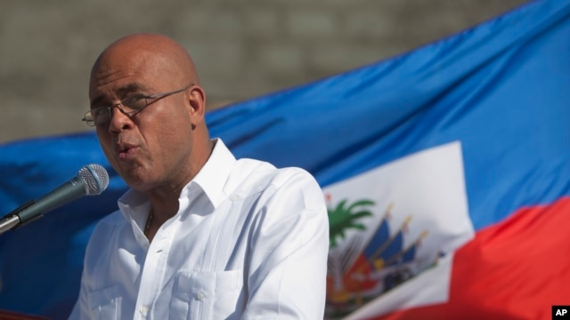 President Michel Martelly says on Jan. 6, 2015, that  Haiti's delayed presidential run-off election will take place on Jan. 24.