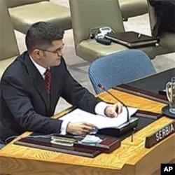 سربیا کے وزیر خارجہ نے منگل کو اقوام متحدہ کی سکیورٹی کونسل کے اجلاس سے خطاب کیا.