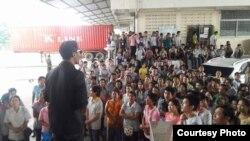 ဘန္ေကာက္ အထည္ခ်ဳပ္စက္႐ုံ ျမန္မာအလုပ္သမားေတြ နစ္နာေၾကးရမည္-ဓါတ္ပံု ရဲမင္း (AAC)