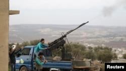La banlieue d'Idlib,théâtre de combats (REUTERS/Khalil Ashawi)