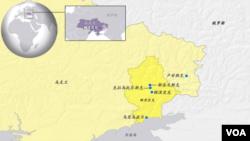 包括顿涅茨克在内的东乌克兰地理位置