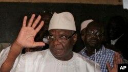 Ibrahim Boubacar Keita, que certains résultats préliminaires de l'élection présidentielle malienne montrent en tête des suffrages