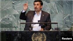 احمدی نژاد در سخنرانی های پیشین خود در مجمع عمومی از برنامه اتمی ایران حمایت کرد و علیه اسرائیل، آمریکا و اروپا سخن گفت.