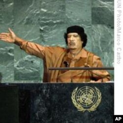 Libyan leader Muammar Abu Minyar al-Gaddafi1 (file)