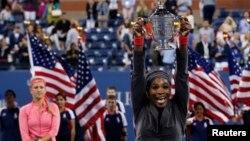 莎蓮娜.威廉斯贏得美網女子單打冠軍