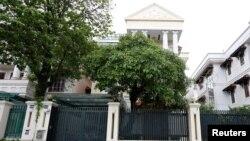 Ngôi nhà của Trịnh Xuân Thanh ở Hà Nội. Ông Thanh được coi là một mắt xích quan trọng cần giải quyết trong chiến dịch chống tham nhũng của TBT Nguyễn Phú Trọng.