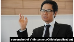 TS. Vũ Tiến Lộc, Chủ tịch VCCI, tại một hội nghị hôm 3/12/2019 ở Hà Nội