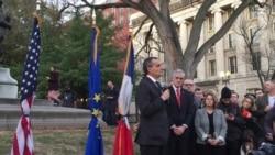 French Ambassador Leads Vigil in Washington, DC