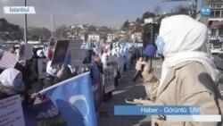 Uygur Kadınları İstanbul'da Çin'i Protesto Etti